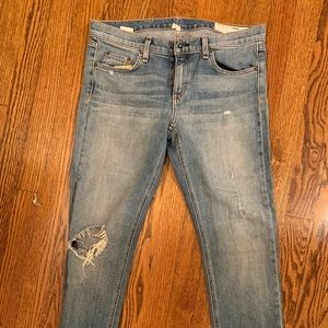 Rag and Bone Distressed Jeans